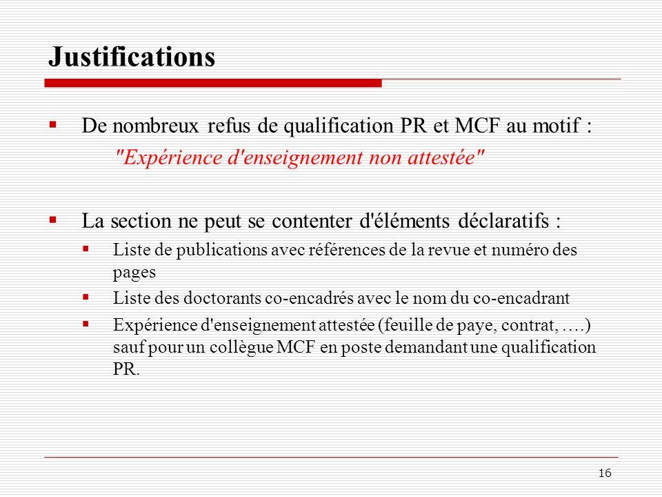 CNU 63 ème section Composition Qualifications Promotions Divers