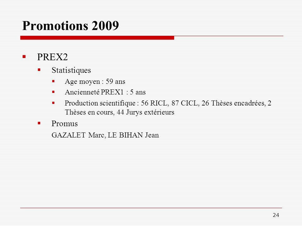 Répartition géographique des promotions 2008 et 2009 25 MCHC PR1 PREX1 PREX2
