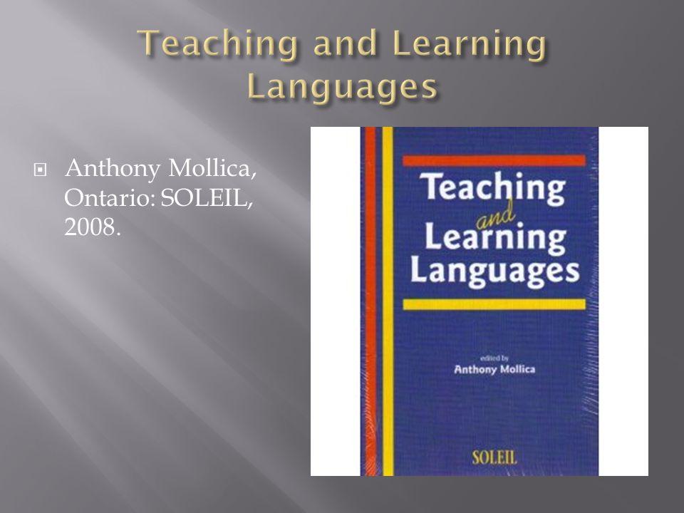 Anthony Mollica, Ontario: SOLEIL, 2008.