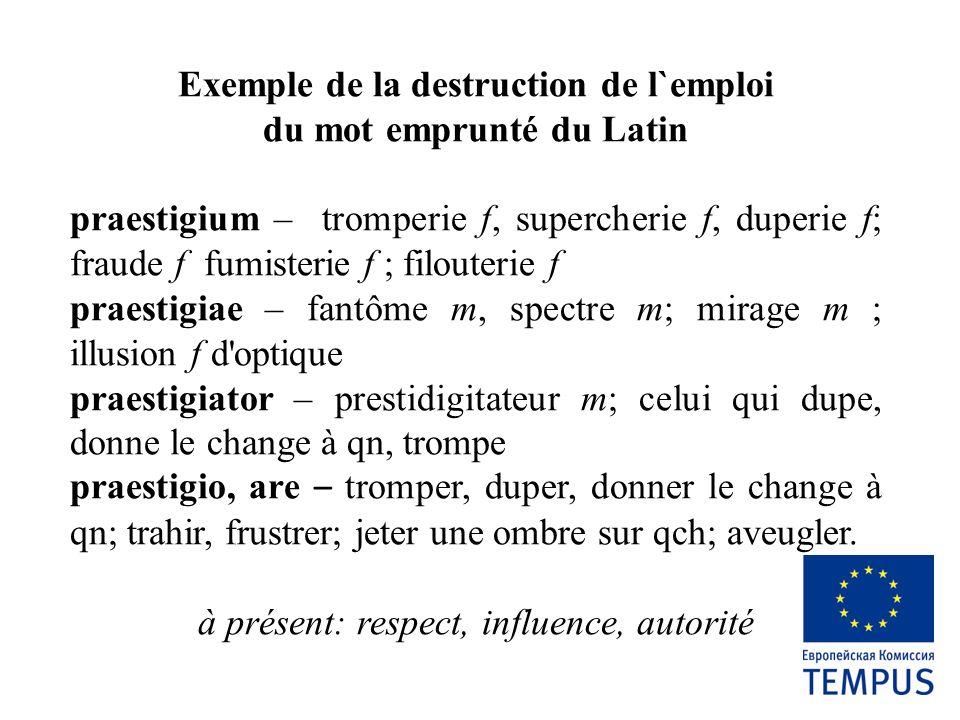 Résumé de la situation dans l`usage de la langue «L`emploi incorrecte des mots mène à la faute dans la pensée et puis dans la vie» D.
