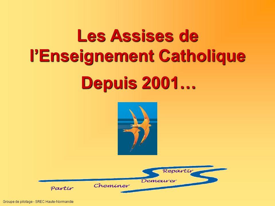 Groupe de pilotage - SREC Haute-Normandie Les Assises de lEnseignement Catholique Depuis 2001…