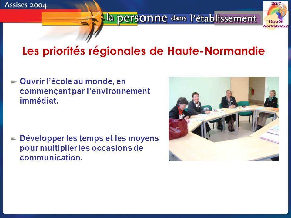 Groupe de pilotage - SREC Haute-Normandie Ouvrir lécole au monde, en commençant par lenvironnement immédiat.