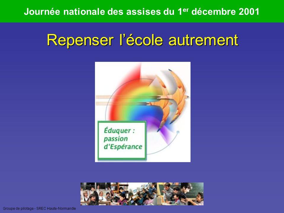 Groupe de pilotage - SREC Haute-Normandie Journées nationales des assises Evaluation et réussite 4 et 5 avril 2006 Regarder la personne comme un être relié « Nous ne commençons pas par être un moi-je mais par être un nœud de relations dans un espace humain primordial où nous habitons tous ensemble.