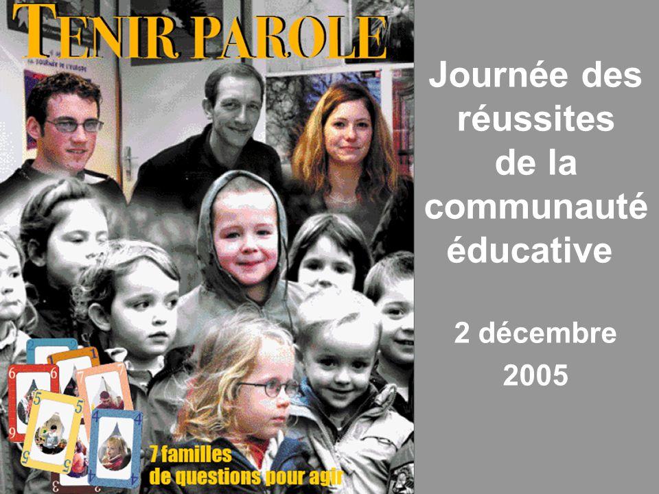 Groupe de pilotage - SREC Haute-Normandie Journée des réussites de la communauté éducative 2 décembre 2005