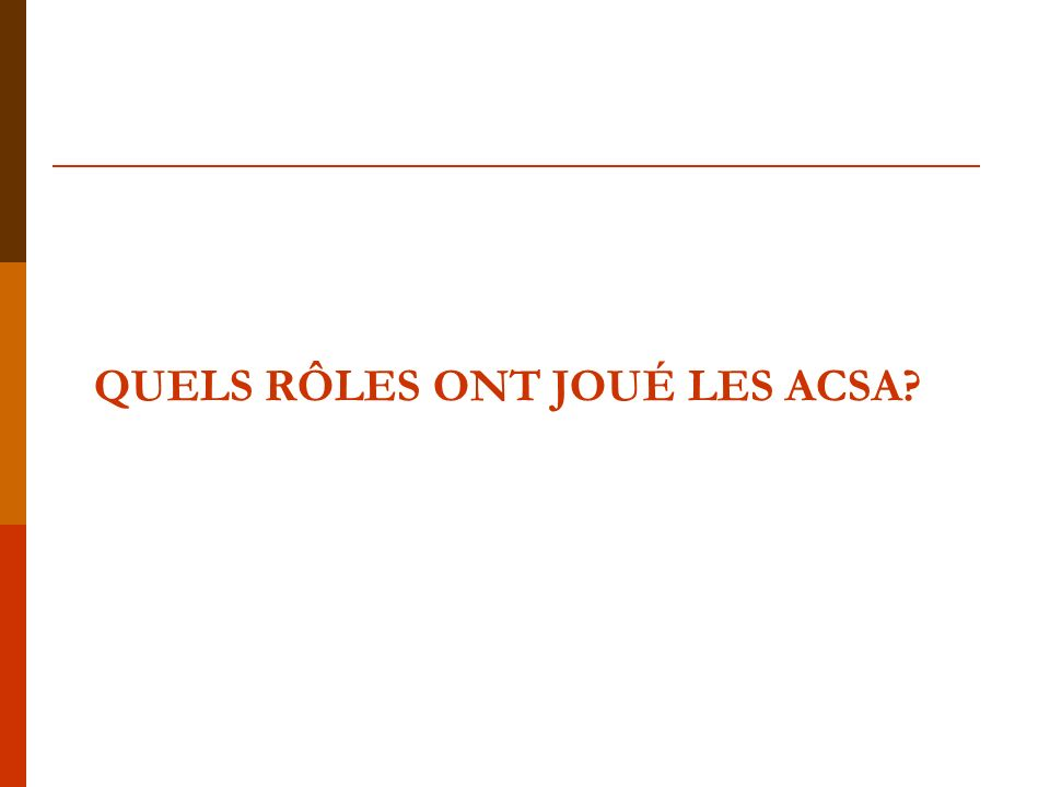 Interventions des ACSA(1) Surveillance événementielle exhaustive(Passive)
