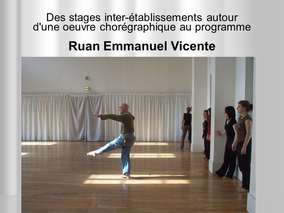 Des stages inter-établissements autour d'une oeuvre chorégraphique au programme Ruan Emmanuel Vicente