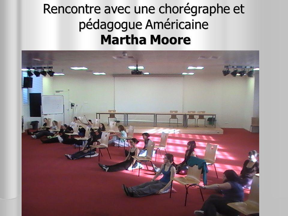 Rencontre avec une chorégraphe et pédagogue Américaine Martha Moore