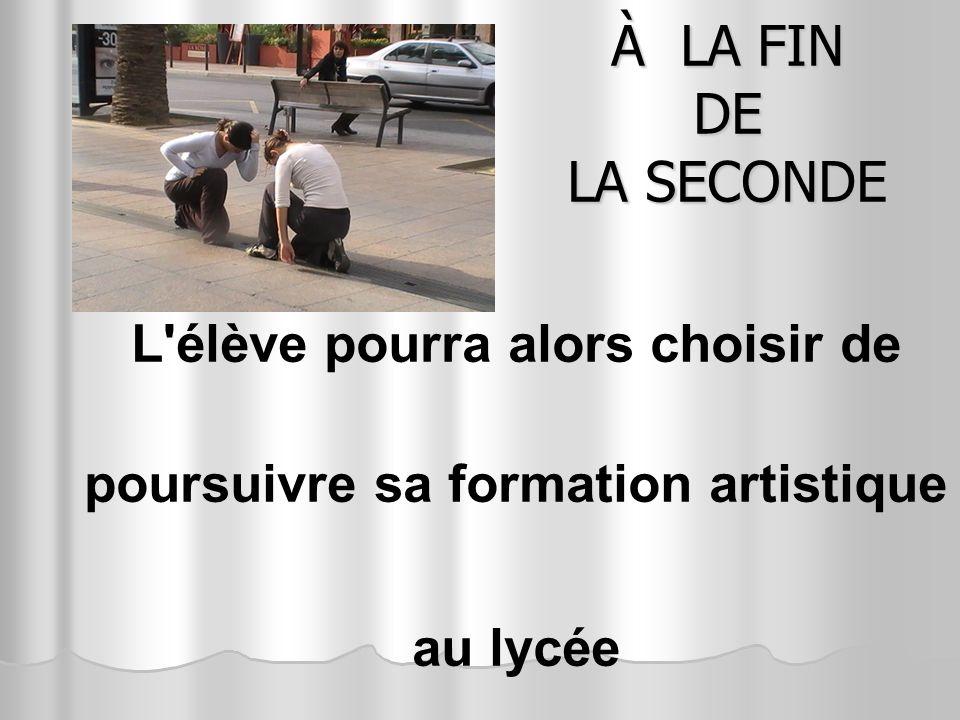 Soit vers un bac général toutes séries confondues (L, S, ES) L enseignement facultatif ART – Danse coefficient 2