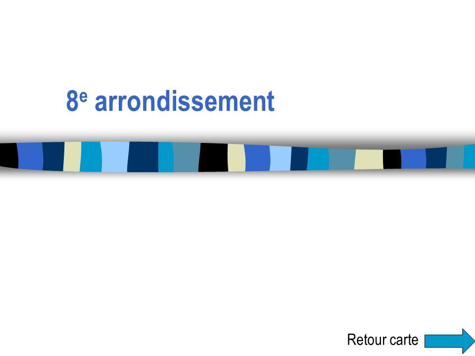 8 e arrondissement Retour carte