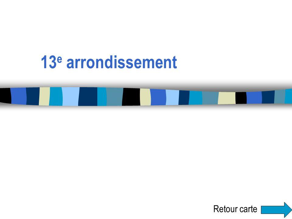 13 e arrondissement Retour carte