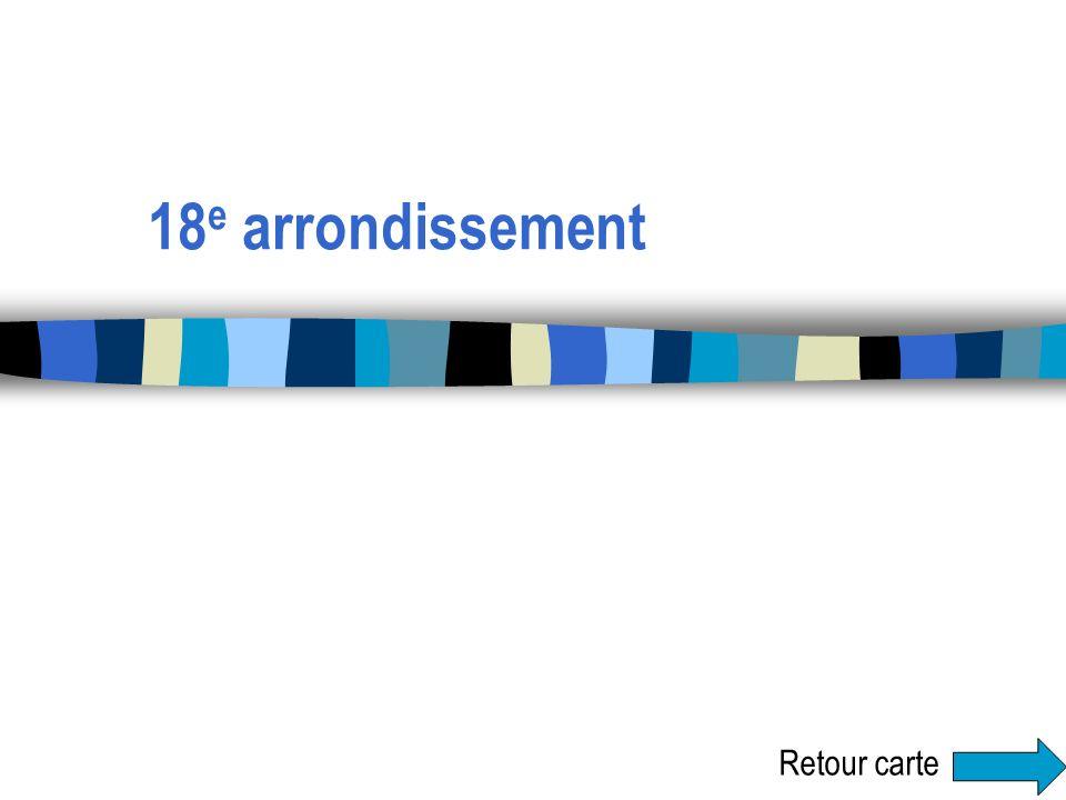 18 e arrondissement Retour carte