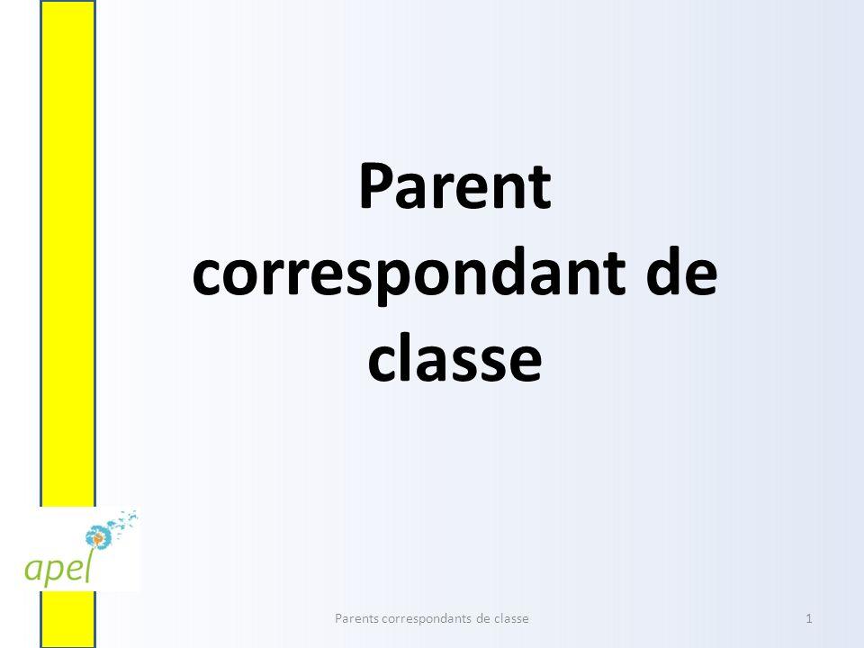 Parent correspondant de classe Parents correspondants de classe1