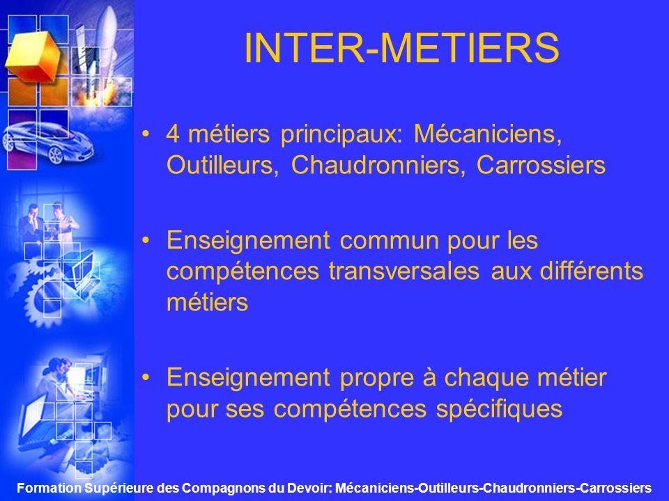 Formation Supérieure des Compagnons du Devoir: Mécaniciens-Outilleurs-Chaudronniers-Carrossiers AVEC LE VOYAGE