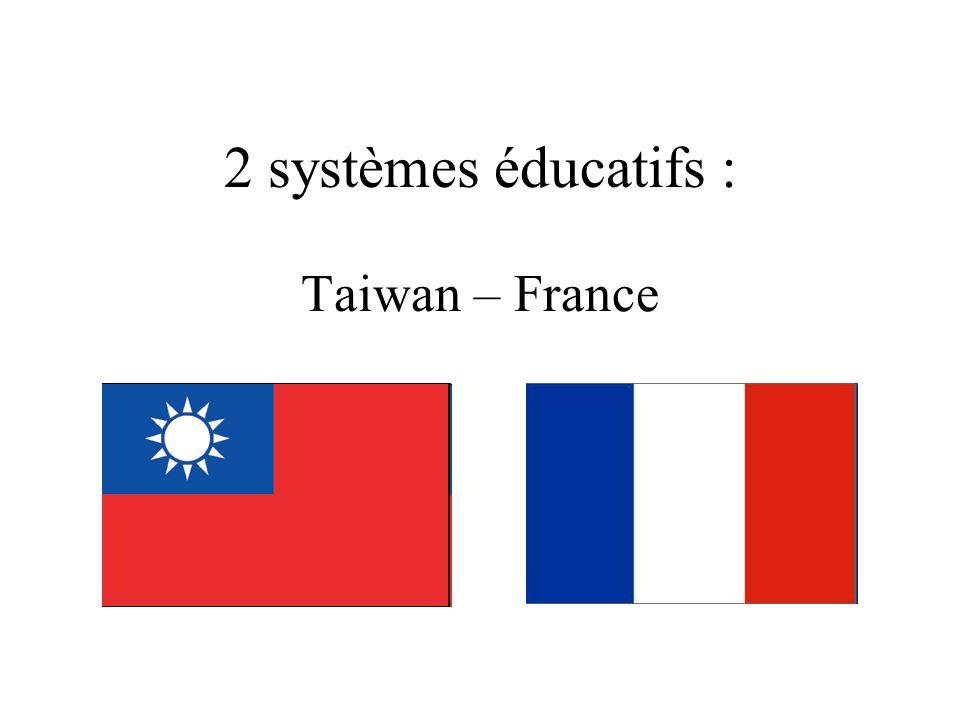 2 systèmes éducatifs : Taiwan – France
