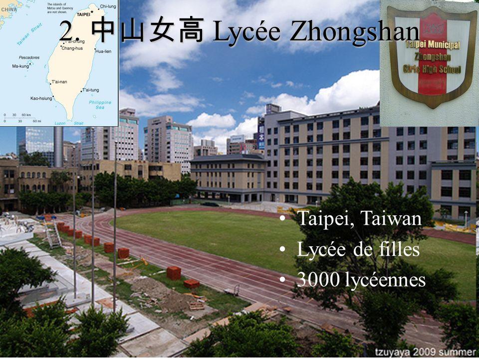 Taipei, Taiwan Lycée de filles 3000 lycéennes 2. Lycée Zhongshan