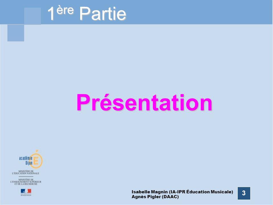 14 Mise en perspective des trois piliers à chacun des trois niveaux du cursus scolaire Isabelle Magnin (IA-IPR Éducation Musicale) Agnès Pigler (DAAC)