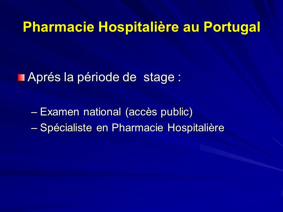 Pharmacie Hospitalière au Portugal Attribution des postes dans les hôpitaux –Concours public (Cadre de lhôpital) –Contrats à terme –Contrats individuels de travail À terme « définitif »