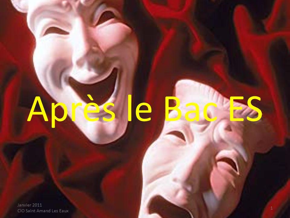 Janvier 2011 CIO Saint Amand Les Eaux Poursuite détudes des bacheliers ES