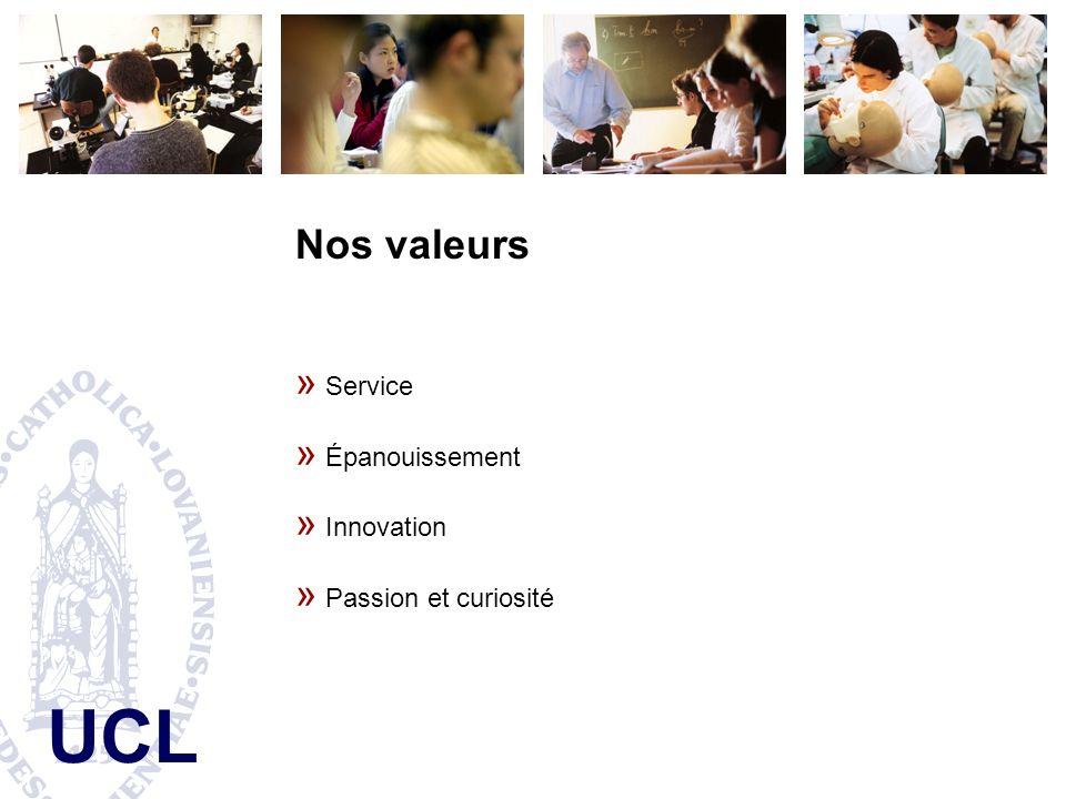 UCL Nos valeurs » Service » Épanouissement » Innovation » Passion et curiosité