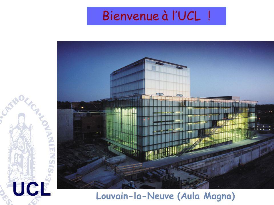 UCL Académie universitaire Louvain Constituée le 29 juin 2004, suite au Décret Bologne organisant lenseignement supérieur