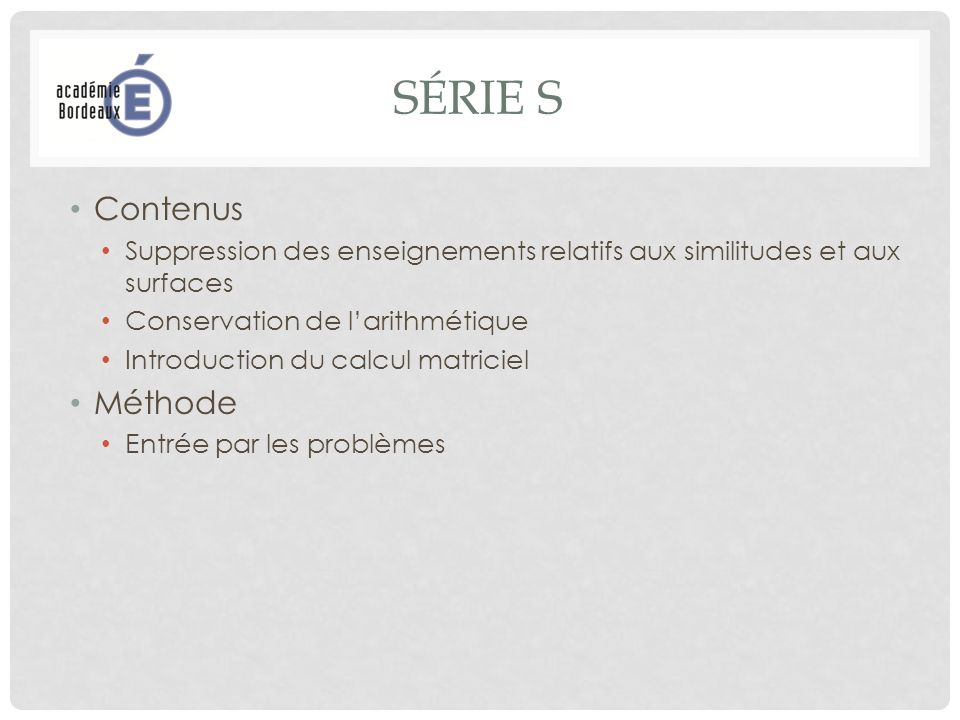 RESSOURCES POUR LA CLASSE Mathématiques Série S Enseignement de spécialité juin 2012