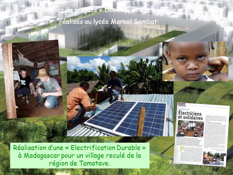 Réalisation dune « Electrification Durable » à Madagascar pour un village reculé de la région de Tamatave. Exemples de projets « Développement Durable