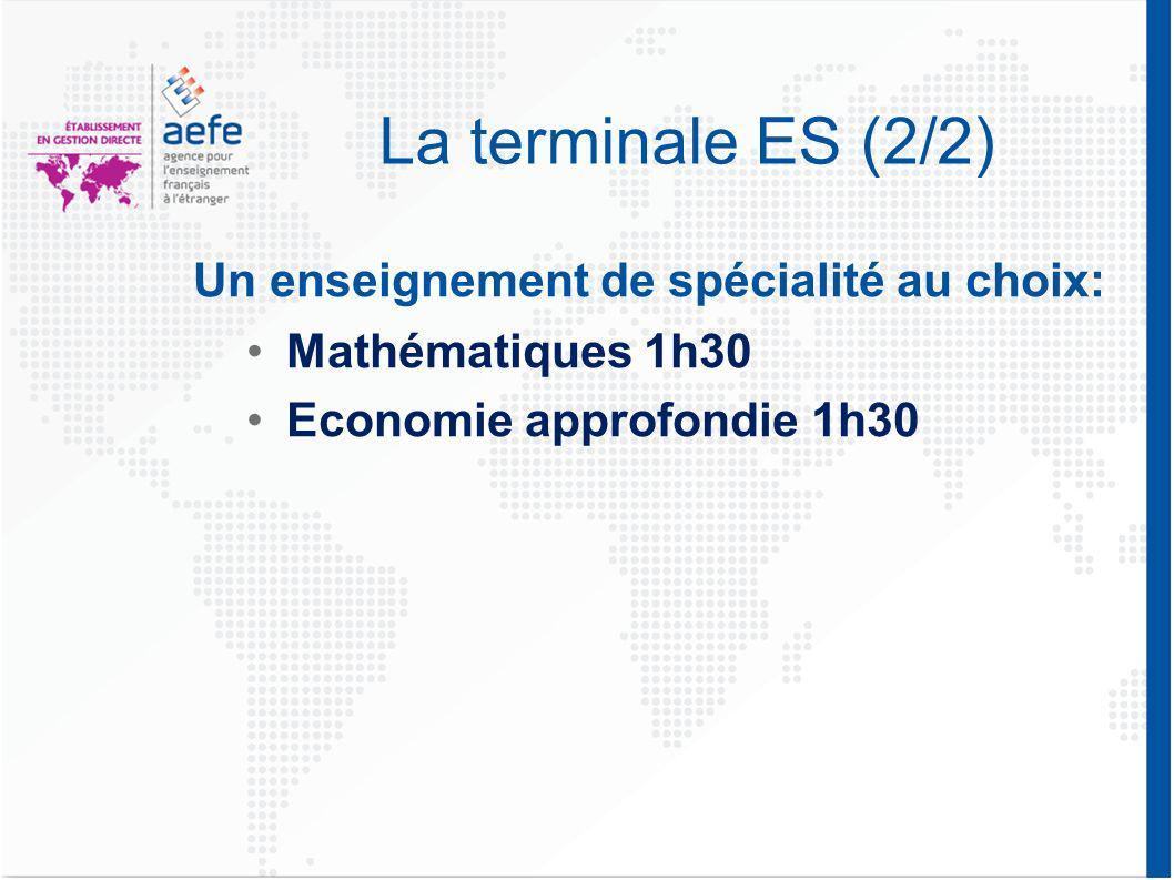 La terminale L (1/2) Littérature 2h Littérature étrangère en anglais 1h30 Histoire-géographie 4hPhilosophie 8h