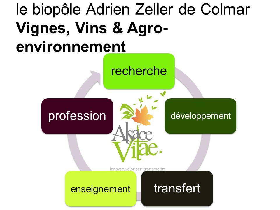 le biopôle Adrien Zeller de Colmar Vignes, Vins & Agro- environnement Transfert recherche développement transfert enseignement profession