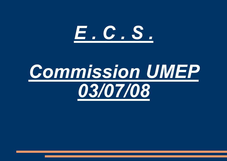 E. C. S. Commission UMEP 03/07/08