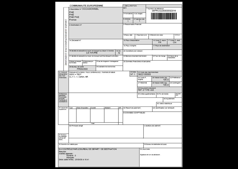 Articulation des différentes phases Au bureau de sortie (BS) 1/ Avant présentation des marchandises : > Au bureau prévu en case 29, dans l outil ECS Bureau de Sortie : - Réception de l avis anticipé dexportation (IE501 AER) envoyé par le bureau d exportation - Analyse de risque pour contrôle éventuel à larrivée, ou en MAE.
