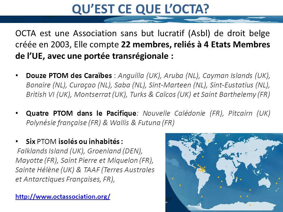 QUEST CE QUE LOCTA? OCTA est une Association sans but lucratif (Asbl) de droit belge créée en 2003, Elle compte 22 membres, reliés à 4 Etats Membres d