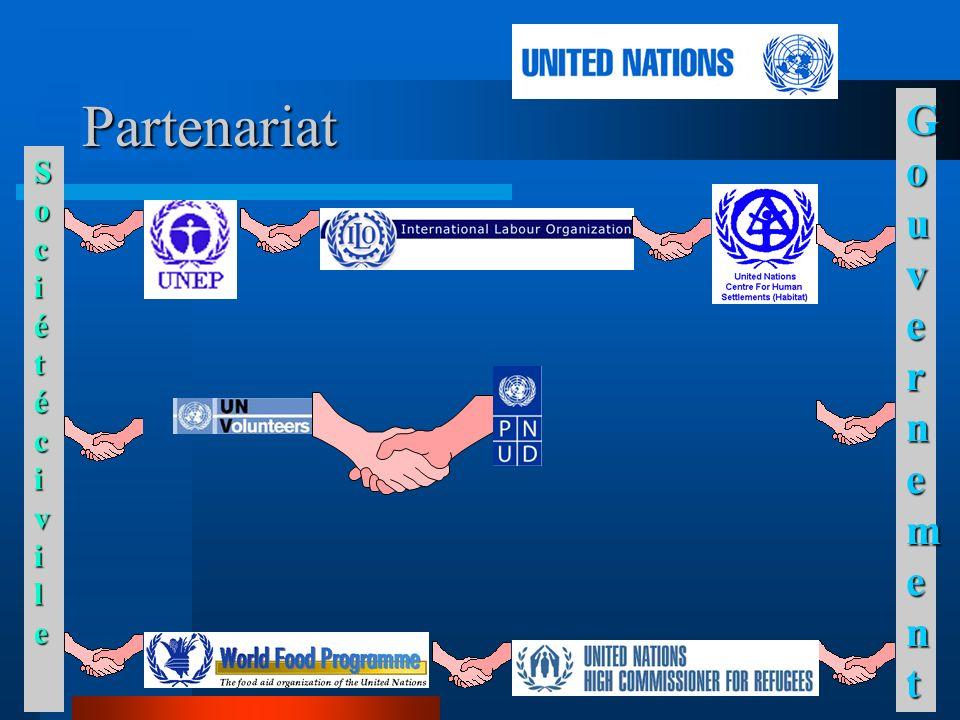 Description Une trentaine de VNU (environ 10 internationaux et 20 nationaux) l environnement, la protection de lenfance, les droits humains et le genre.
