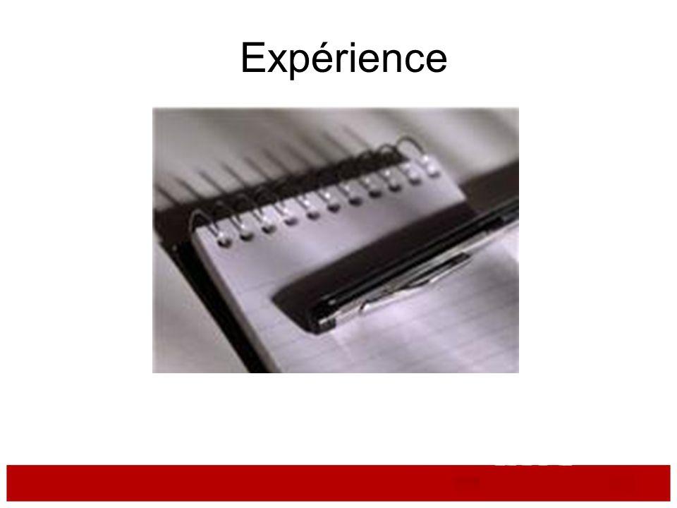 Experience Expérience