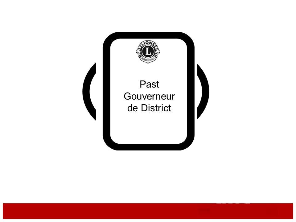 Les devoirs du Past Gouverneur de District