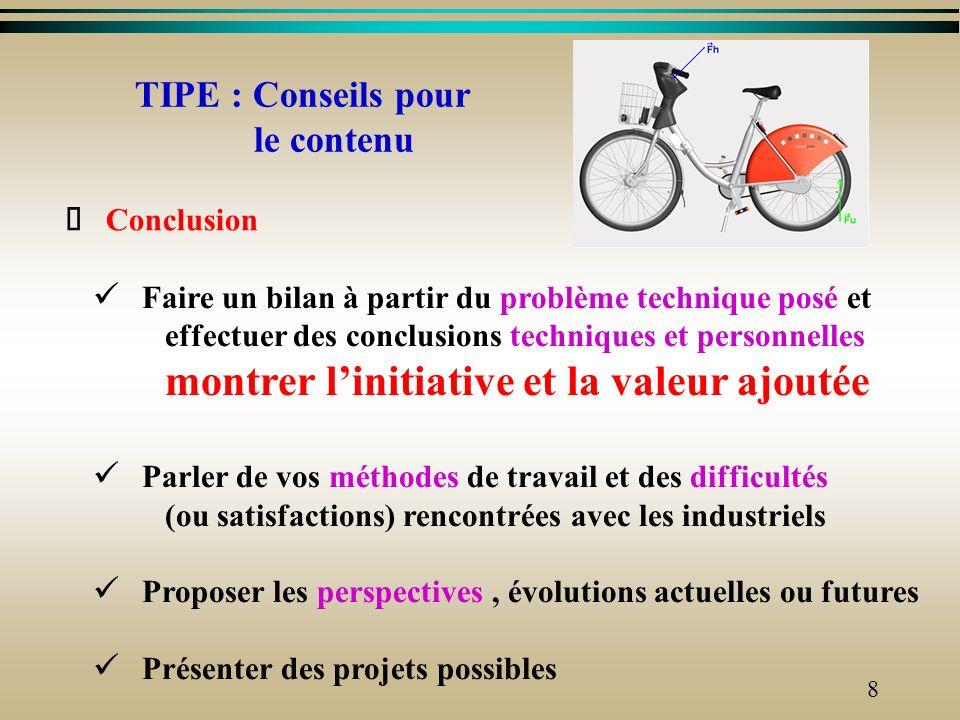 7 Expérimentation (personnelle et/ou industrielle) o Exposer le problème à résoudre o Préciser le protocole (conditions, matériels, capteurs,..) o Déc