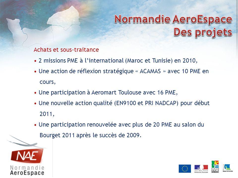 Achats et sous-traitance 2 missions PME à linternational (Maroc et Tunisie) en 2010, Une action de réflexion stratégique « ACAMAS » avec 10 PME en cou