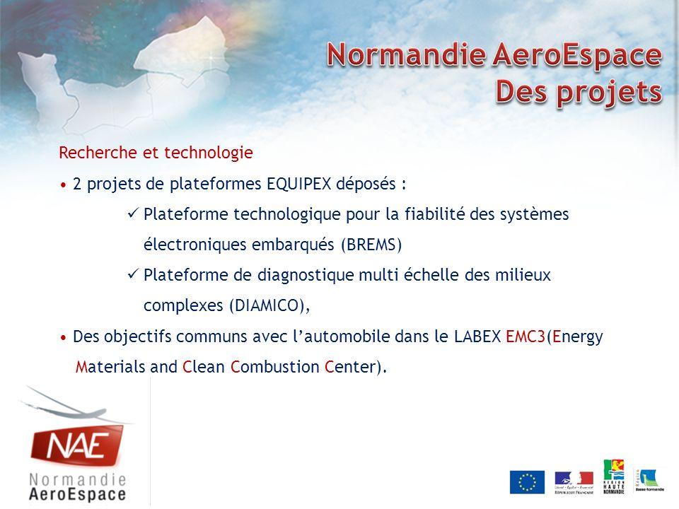Recherche et technologie 2 projets de plateformes EQUIPEX déposés : Plateforme technologique pour la fiabilité des systèmes électroniques embarqués (B