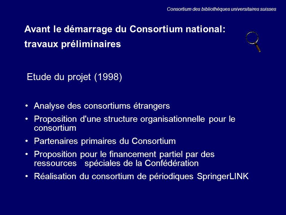 Les statistiques dutilisation: Springer LINK Consortium des bibliothèques universitaires suisses