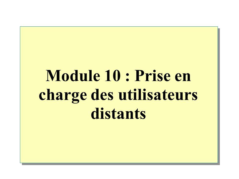 Module 10 : Prise en charge des utilisateurs distants