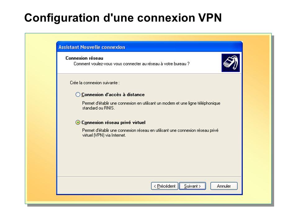 Configuration d'une connexion VPN