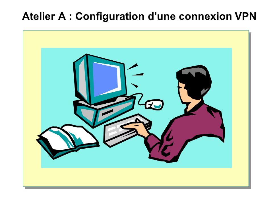 Atelier A : Configuration d'une connexion VPN