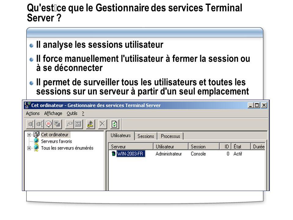 Qu estce que le Gestionnaire des services Terminal Server .