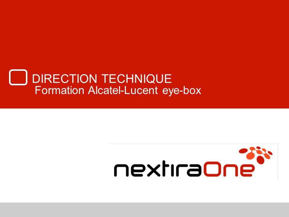 82 Formation eye-box R4.X Synchronisation à un OmniPCX Office Appels en arrivée; routage, renvois Mode nomade Gestion de la messagerie unifiée, de la messagerie vocale
