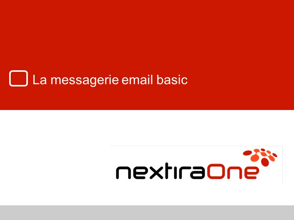 La messagerie email basic