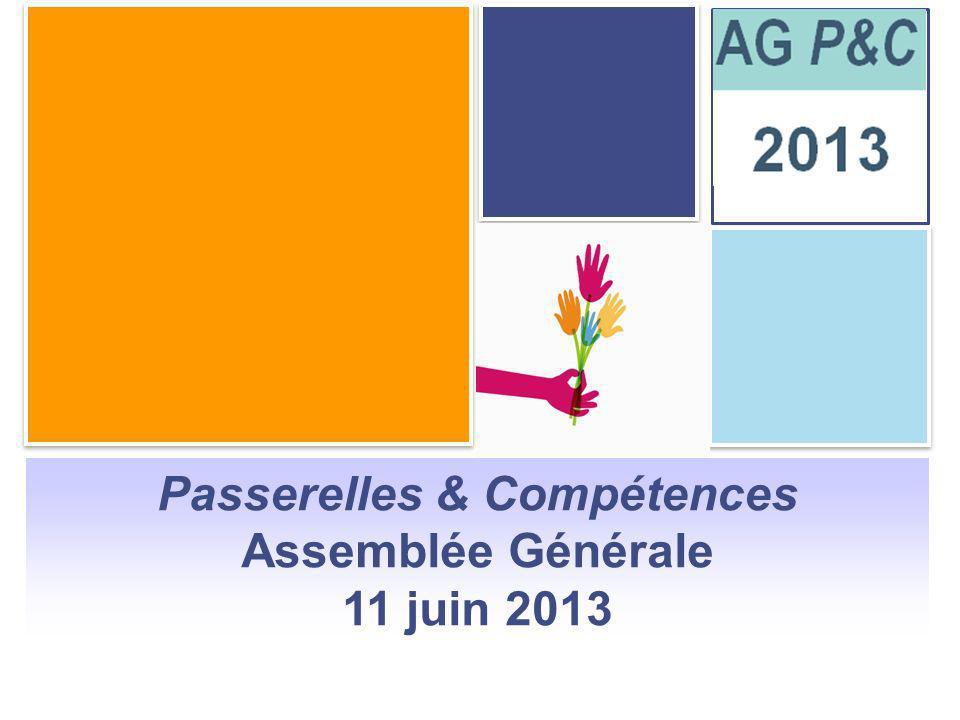 Sommaire Passerelles & Compétences Assemblée Générale 11 juin 2013