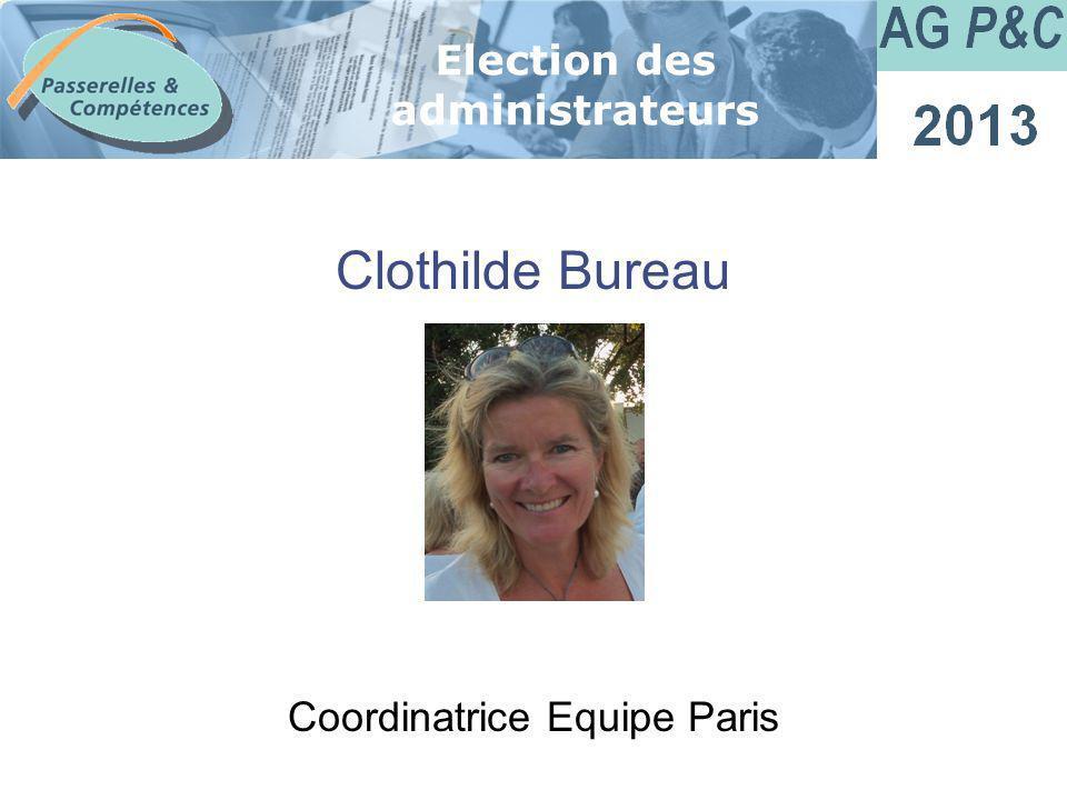 Sommaire Clothilde Bureau Election des administrateurs Coordinatrice Equipe Paris