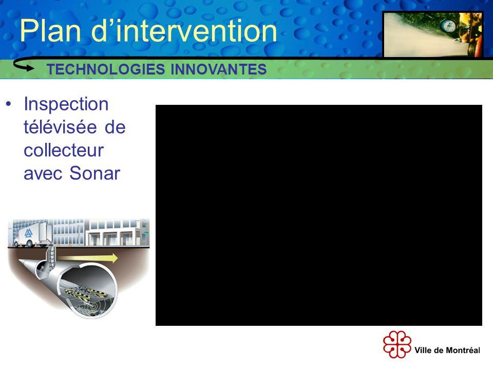 Plan dintervention Inspection télévisée de collecteur avec Sonar TECHNOLOGIES INNOVANTES