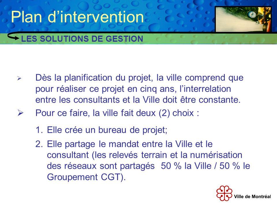 Dès la planification du projet, la ville comprend que pour réaliser ce projet en cinq ans, linterrelation entre les consultants et la Ville doit être