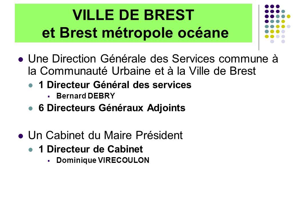 VILLE DE BREST et Brest métropole océane Une Direction Générale des Services commune à la Communauté Urbaine et à la Ville de Brest 1 Directeur Généra