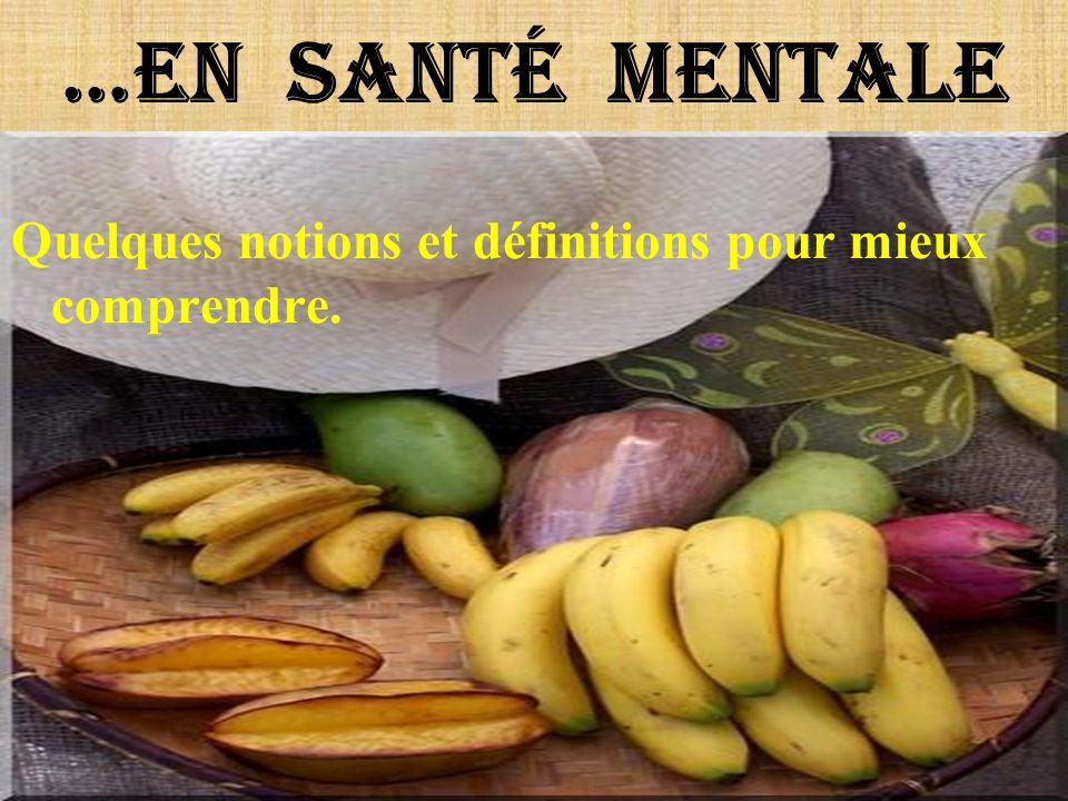 …En santé mentale Quelques notions et définitions pour mieux comprendre.